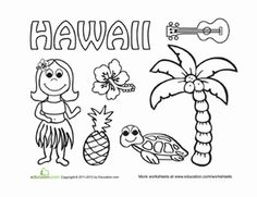 hawaii coloring page - Free Coloring Pages For Kindergarten