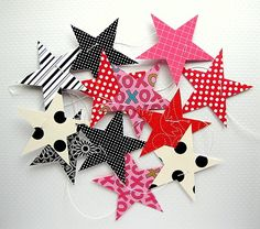 Magical Star Garland by paperklipdesign on Etsy, $15.00