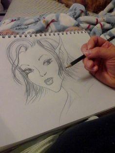 Just a doodle.... pencil.