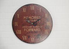 "Wanduhr ""Memories"" - Nostalgie / Vintage / Retro Design"