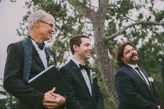 Thomas Phil & Matt smiles before ceremony