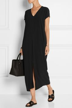 Stitch Fix:  Another great black dress.  Love the neckline and the sleeves and slit in skirt.  Helmut Lang | Crepe maxi dress | NET-A-PORTER.COM