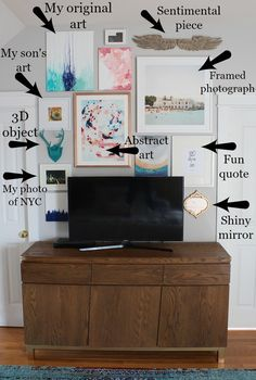How To Disguise A TV With A Gallery Wall - Simple Stylings