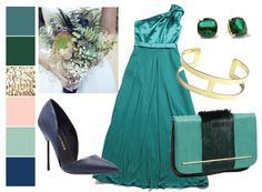 This is pretty!!!  Jewel tones are perfect for winter wedding color palettes.  #bridesmaiddresses #wedding #green