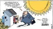 """Recortes retroactivos, impuesto al sol y subastas diseñadas para grandes operadores bloquean el acceso ciudadano a la generación eléctrica. El gobierno español está instando al Estado a """"privatizar"""" el sol."""