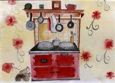 Mum's Aga Drawings - juleslediard.co.uk
