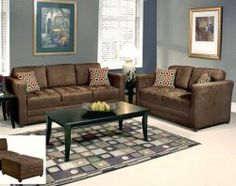 Sienna Chocolate Sofa And Love Seat From American Freight Of The Lord Permits This Is What I M Getting For New Place