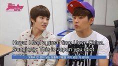 lol Hoya and Sungjong xD