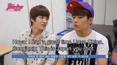 """You Idiot""..lol this is why Hoya is one of my ultimate biases. No doubt he is lovable like this!"