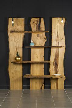 Libreria in legno massello taglio tronco Montale Xlab