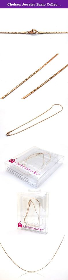 Chelsea Jewelry Basic Collections 1.6mm Wide 18K Rose Gold Flat Cleopatra Link Chain Necklace (20 Inches). Wear the Rose Gold Flat Cleopatra Link Chain Necklace and feel like a supermodel catwalking down the runway. The special twisting design this style possesses creates an unique yet naughty look. It is strong and resistance to wear and tear. Whether to use the chain solo or coupled it with a gemstone pendant is up to you. Our products is available in a variety of chain lengths. Choose...