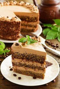Coffee and nut cake (without flour). Vanilla Recipes Easy, Delicious Cake Recipes, Easy Cake Recipes, Yummy Cakes, Baking Recipes, Sweet Recipes, Dessert Recipes, Flour Recipes, Coffee And Walnut Cake