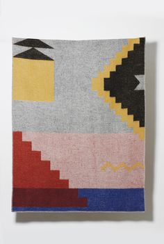 Fez Wool Blanket by Sophie Probst – ZigZagZurich Wool Blanket, Are You The One, Original Art, Weaving, Africa, Kids Rugs, Pure Products, Traditional, Quilts