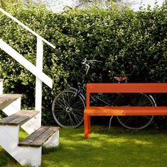 Bellevie Bench with Back from the Bellevie Contemporary Outdoor Furniture collection
