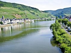 Zell village along the Mosel River, Germany