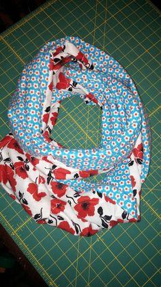Double print infinity scarf tutorial. Easy!