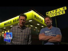 Sturgill Simpson & Colbert write a song for all  Waffle House jukeboxes! Amd filmed at MY Waffle House!