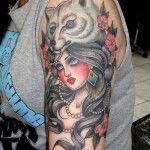 In love! - tatto for girl