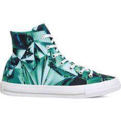 CONVERSE Ctas gemma printed high-tops ($75) ❤ liked on Polyvore featuring shoes, sneakers, emerald mouse gem, lace up sneakers, lace up high top sneakers, mouse shoes, laced shoes and fleece-lined shoes