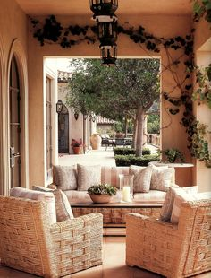 Montecito residence. Design by Michael S. Smith. Via www.marksikes.com.
