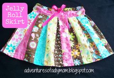 jelly roll skirt pattern free | loving the patterns and colors in this jelly roll.