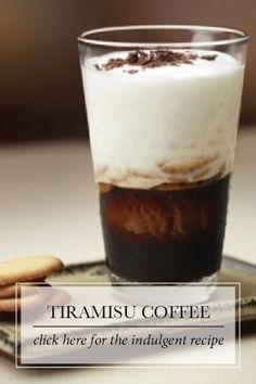 "Tiramisu Coffee ""Tiramisu"" means ""take me to heaven!"" And with all the flavor of every gourmet's favorite Italian dessert, this chocolaty espresso promises to be a sublime indulgence. Espresso Coffee, Coffee Cafe, Coffee Drinks, Iced Coffee, Coffee Shops, Starbucks Coffee, Coffee Mugs, Coffee Tin, Vintage Coffee"