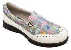 In the market for new golf shoes? Lori's Gold Shoppe carries a selection of cool stylish golf shoes for women. Check this one out -->  Confetti Sandbaggers Ladies Vanessa Golf Shoes