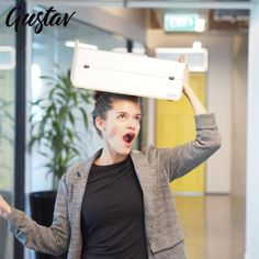 Gustav is designed for home office and agile working: Ergonomically correct, anywhere. Organises your office, keeps all your stuff. Mobile and light, turn any space into your office. Award-winning design. Let's change the way we work! Office Building Architecture, Plastic Organizer, Home Office Organization, Office Fashion, Office Outfits, Workplace, Laptop Stand, House Design, Let It Be