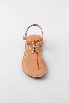 shimmery starfish sandals