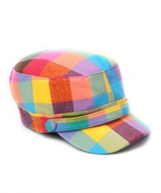 DAVID & YOUNG – Plaid Cap Rainbow #fashion