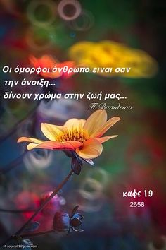 Greek Quotes, Meaningful Words, Good Morning, Sayings, Movie Posters, Friends, Buen Dia, Amigos, Bonjour