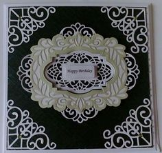 Sue Wilson Dies, Black Card, Handmade Birthday Cards, Decorative Plates, Creative, Frame, Happy, Facebook, Picture Frame