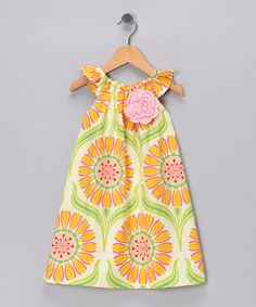 love this free-spirited Ivory & Orange Floral Dress by Chatti Patti on #zulily