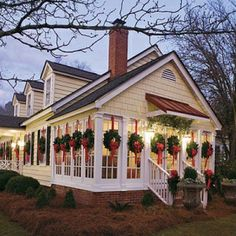 I want to hang a wreath from every single window in our enclosed front porch!