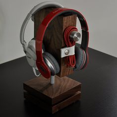 Headphone Stand by woodworksRD on Etsy