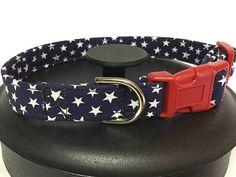 Dog collar star dog collar 4th of July dog collar blue dog