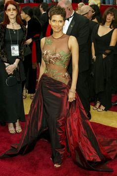 Halle Berry - 50 Best Oscar Dresses - Marie Claire