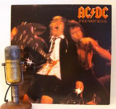 "ON SALE AC/Dc Vinyl Record Album Lp ""If You Want Blood You've Got It"" (Original 1978 Atlantic Records w/""Whole Lotta Rosie"")"