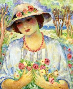 The Athenaeum - Girl with Flowered Hat (Henri Lebasque - )