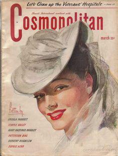 Cosmopolitan magazine, MARCH 1945 Artist: Bradshaw Crandell