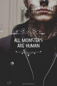 Todos os monstros são humanos. American horror story