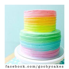 Rainbow Ombre Cake                                                                                                                                                                                 More