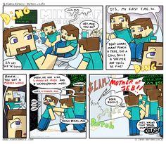 mine craft reader Minecraft Comics, Minecraft Funny, Minecraft Art, Cartoon Games, Country Art, Anime Naruto, Creations, Jokes, Eye Candy