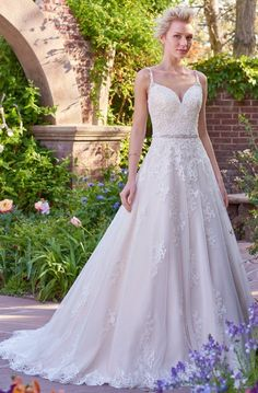 Featured Dress: Rebecca Ingram Olivia Collection; Wedding dress idea.