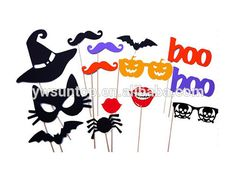 14 piece Halloween theme pumpkin bat spider photographed props Amazing Party Supplies