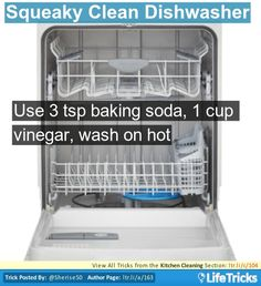 Use 3 teaspoons of baking soda, 1 cup of vinegar and run with hot wash. It will sparkle!!