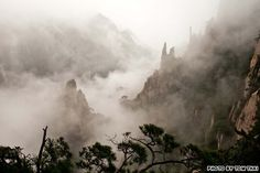 """A UNESCO World Heritage Site set amidst """"the loveliest mountains of China,"""" Mount Huangshan, aka Mount Yellow, is a once-in-a-lifetime trek for many Chinese."""