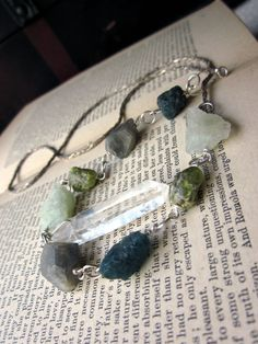 Your place to buy and sell all things handmade Green Peridot, Raw Gemstones, Rocks And Minerals, Gemstone Necklace, Sterling Silver Chains, Quartz Crystal, Labradorite, Turquoise Bracelet, Jewelry Box