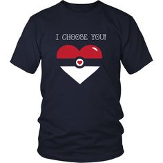 I choose you Unisex Valentine´s Day is the perfect Valentines shirt! Surprise your valentine's this year with a matching tee for Valentine's day. Choose from a wide range of personalised Valentine's D Nerdy Valentines, Mens Valentines Gifts, Valentines Day Shirts, Valentine Box, Valentine Ideas, Valentine Crafts, Diy Valentine's Shirts, Vinyl Shirts, Tee Shirts