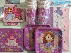 Sofia the First Birthday Party Pack Supplies @Verónica Sartori